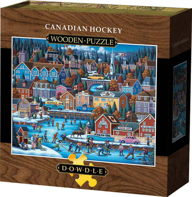 Canadian Hockey - Wooden Puzzle
