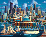Chicago Navy Pier Wooden Puzzle