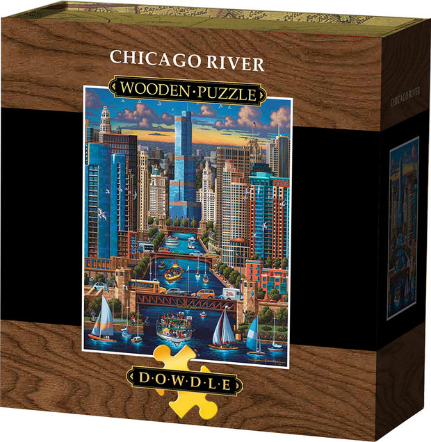 Chicago River Wooden Puzzle