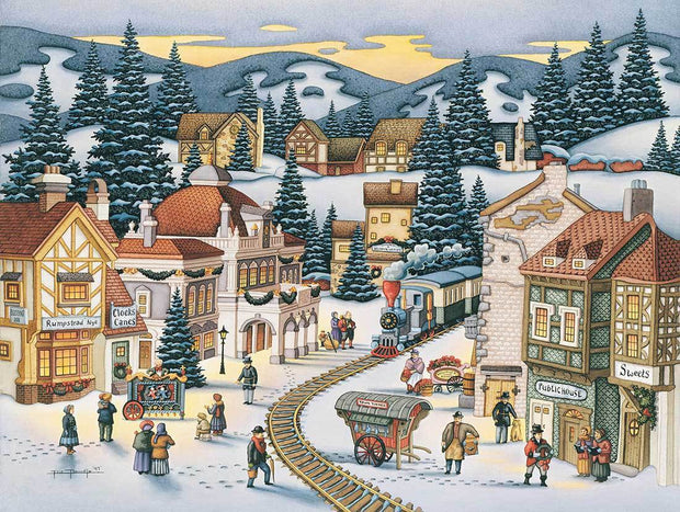 Christmas Village - Fine Art