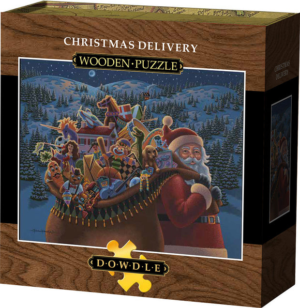 Christmas Delivery Wooden Puzzle