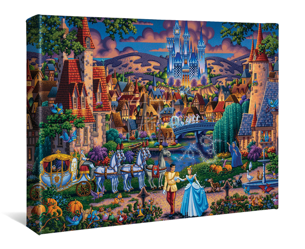 "Cinderella's Enchanted Evening – 11"" X 14"" Gallery Wrap Canvas"