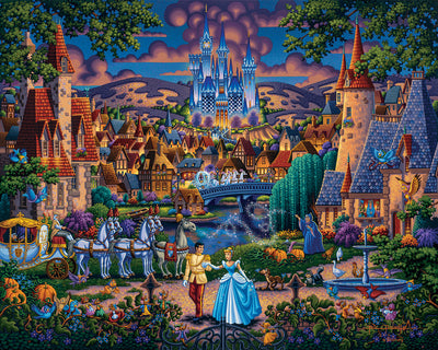 "Cinderella's Enchanted Evening – 11"" X 14"" Art Print"