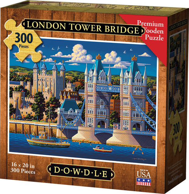London Tower Bridge - Wooden Puzzle