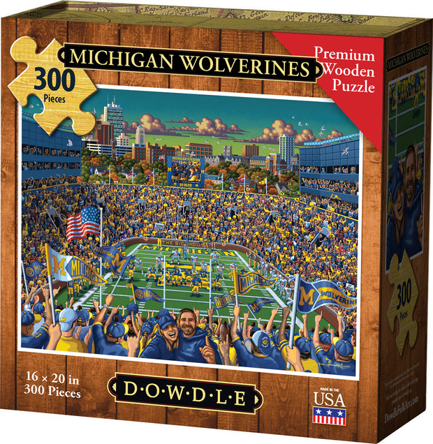 Michigan Wolverines Wooden Puzzle