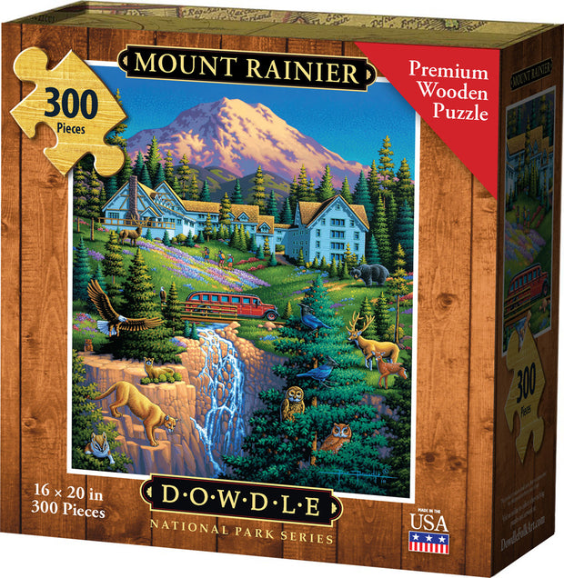 Mount Rainier - Wooden Puzzle