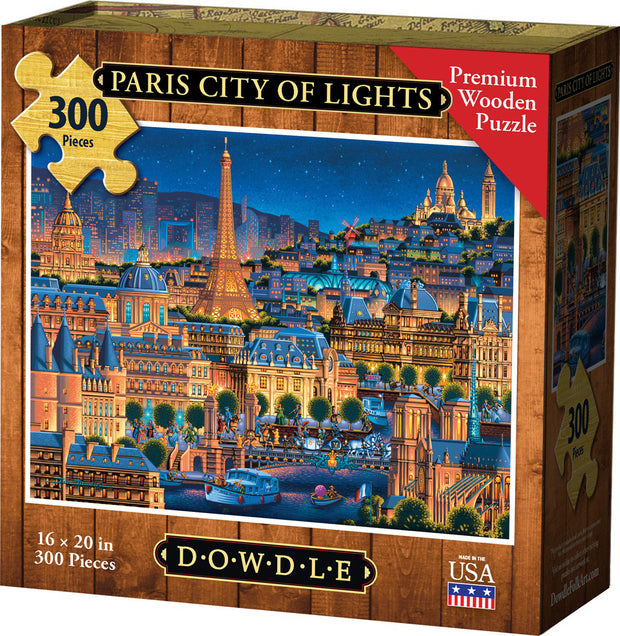 Paris City of Lights Wooden Puzzle