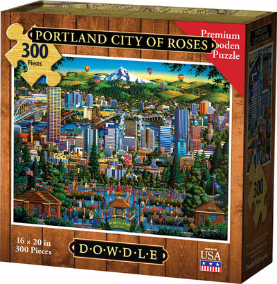 Portland City of Roses - Wooden Puzzle