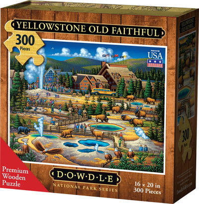 Yellowstone Old Faithful Wooden Puzzle