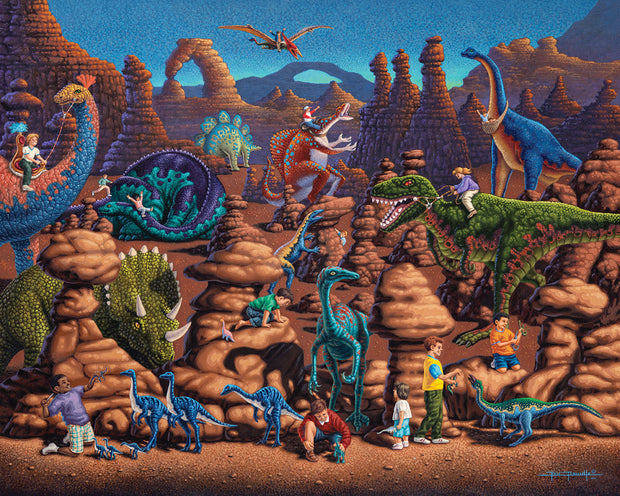 Dinosaur Games - Fine Art