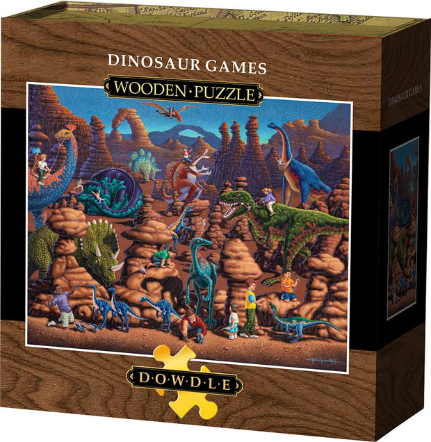 Dinosaur Games - Wooden Puzzle