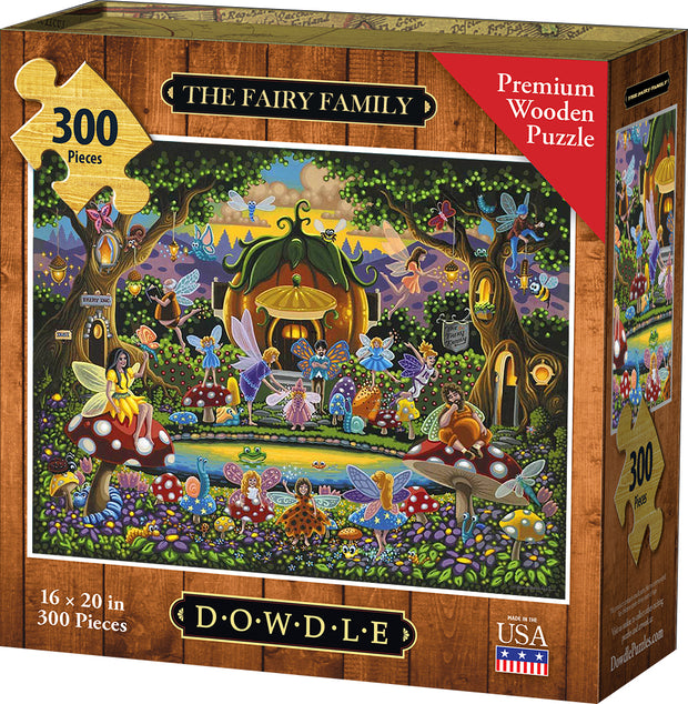 The Fairy Family - Dowdle Wooden Puzzle