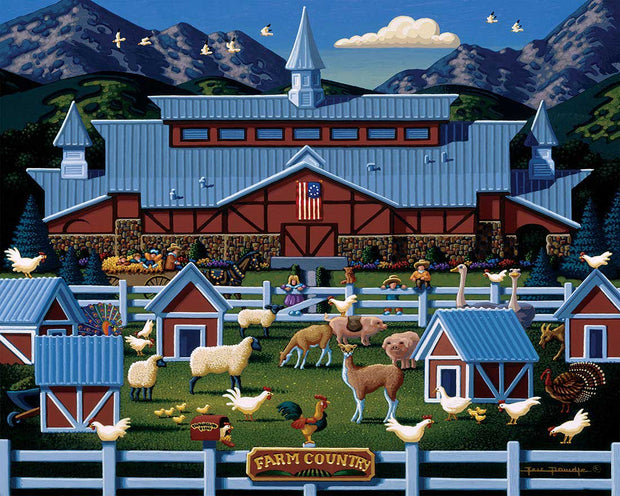 Farm Country Poster Print