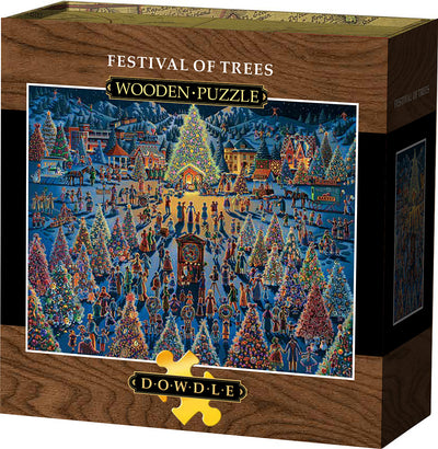 Festival of Trees Wooden Puzzle