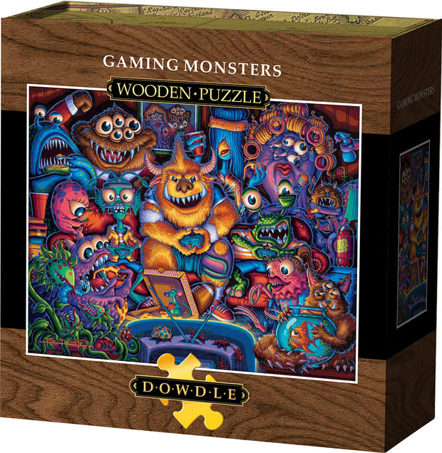 Gaming Monsters - Wooden Puzzle