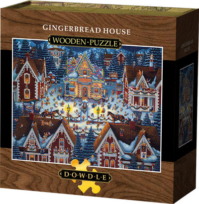 Gingerbread House Wooden Puzzle