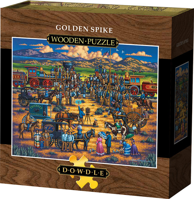 Golden Spike Wooden Puzzle