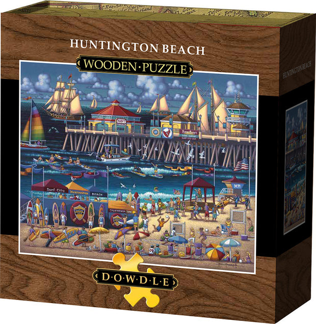 Huntington Beach Wooden Puzzle
