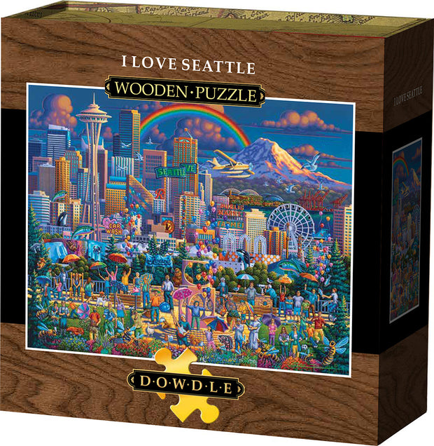 I Love Seattle Wooden Puzzle
