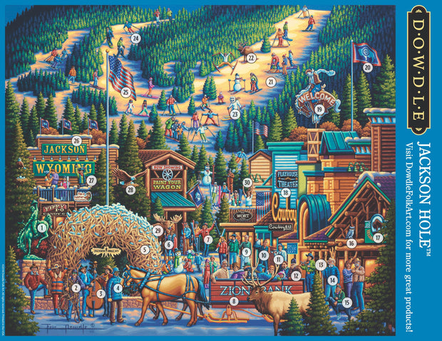 Jackson Hole - Mini Puzzle - 250 Piece