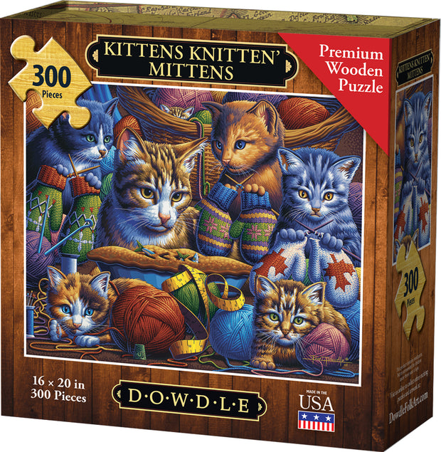 Kittens Knitten' Mittens - Dowdle Wooden Puzzle
