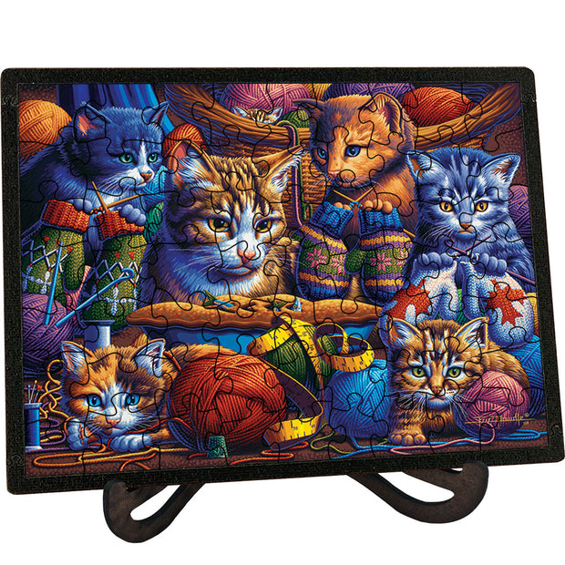 Kittens Knittin' Mittens Picture Perfect Puzzle™