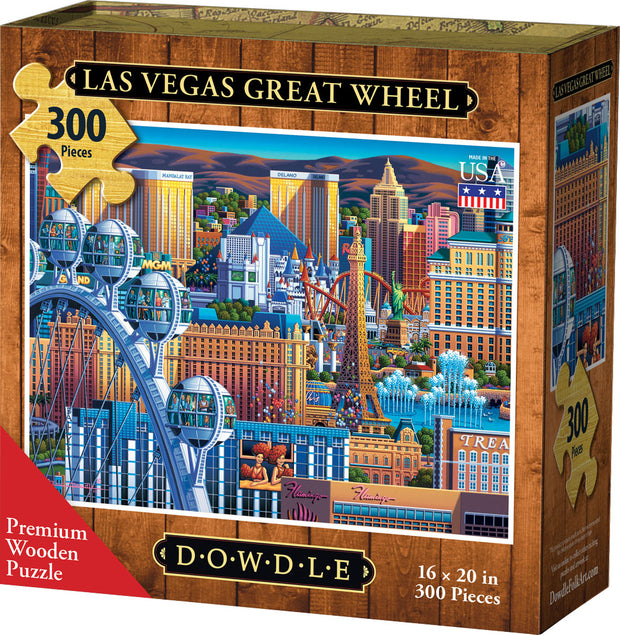 Las Vegas Great Wheel Wooden Puzzle