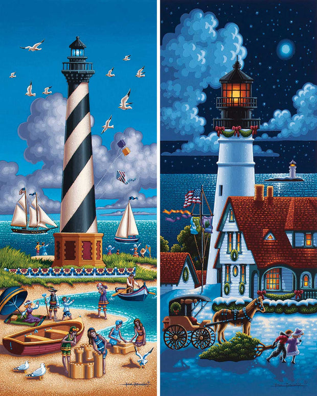 Lighthouses North - Fine Art
