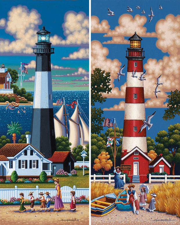 Lighthouses South - Fine Art