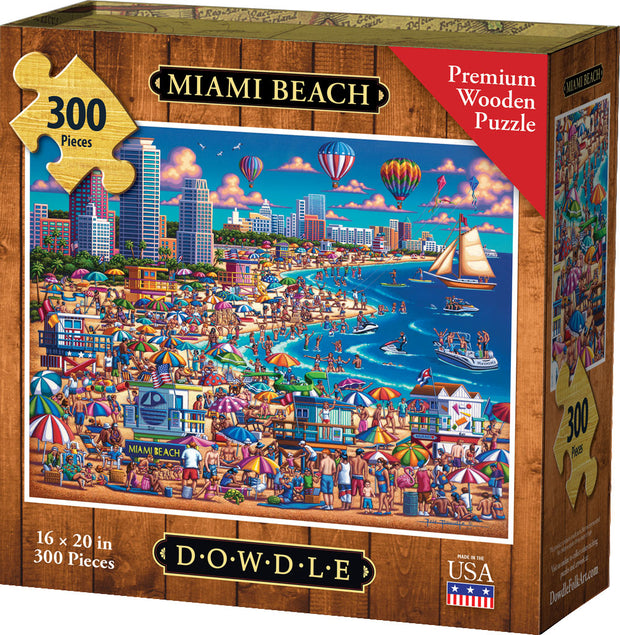 Miami Beach - Wooden Puzzle