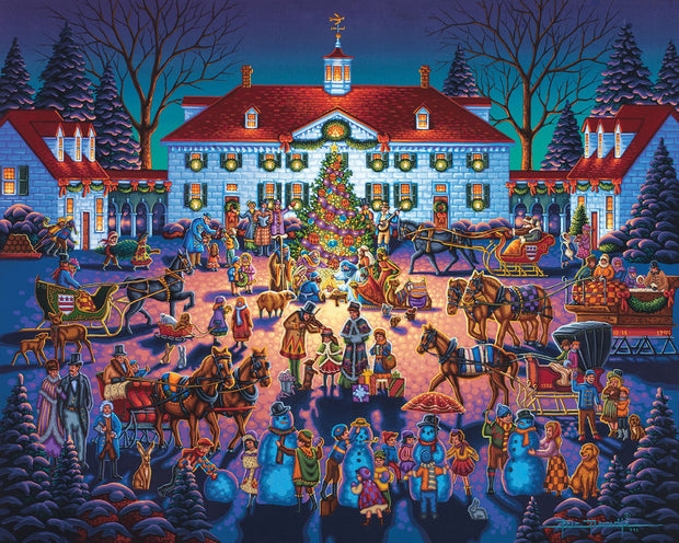 Mount Vernon Christmas - Fine Art