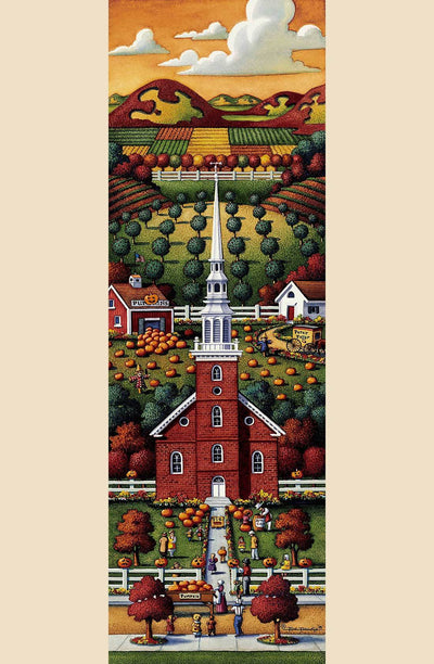New England Church Fall - Fine Art
