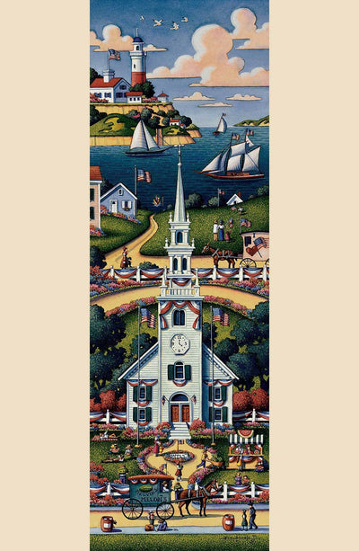 New England Church Summer - Fine Art