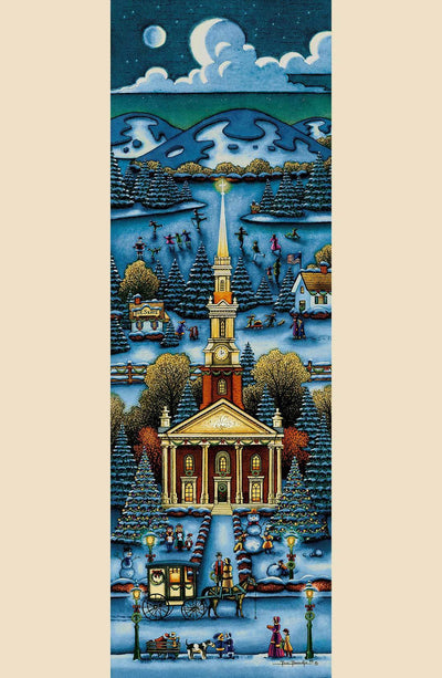 New England Church Winter - Fine Art