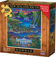 New Zealand South - Wooden Puzzle