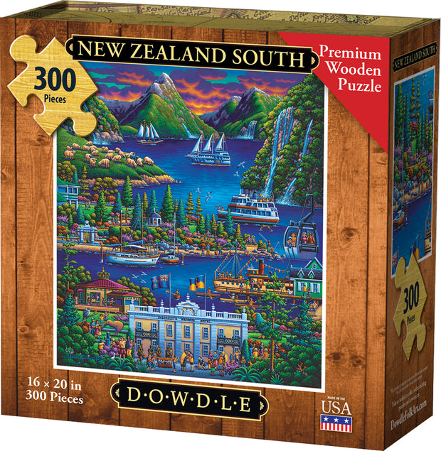 New Zealand South - Dowdle Wooden Puzzle