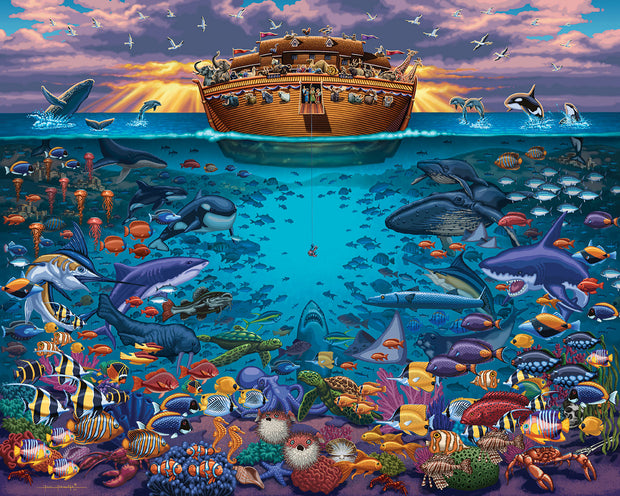 Noah's Ark Under the Sea - Fine Art