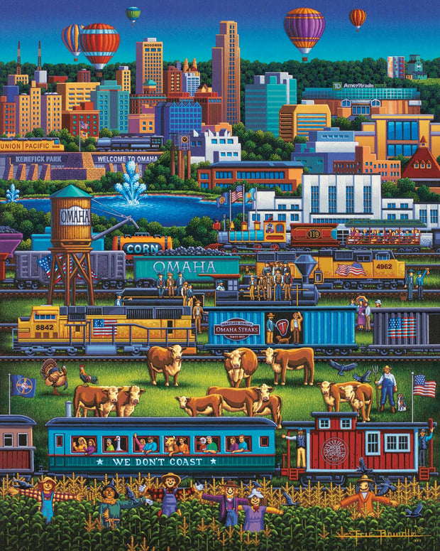 Omaha Trains Fine Art