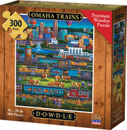 Omaha Trains - Dowdle Wooden Puzzle