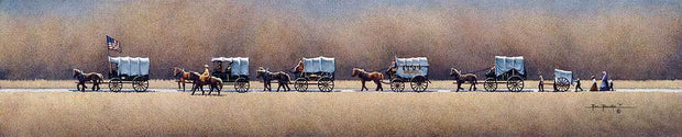 Pioneer Wagon Train - Fine Art