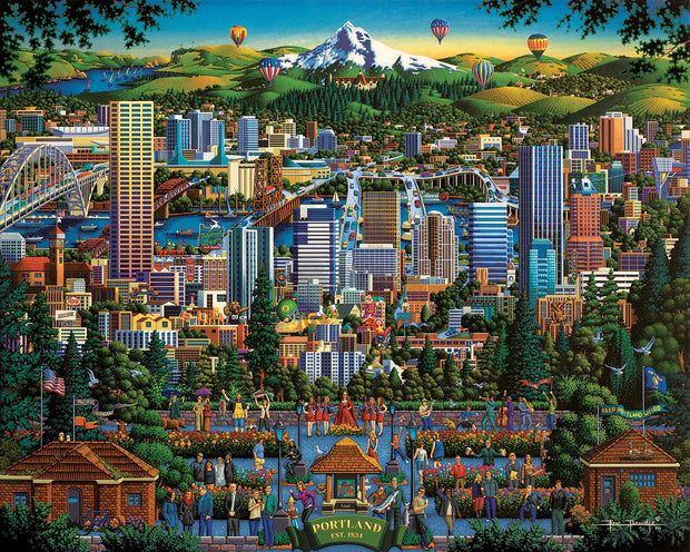 Portland City of Roses - Dowdle Wooden Puzzle