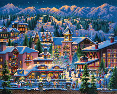 Rocky Mountain Christmas Fine Art