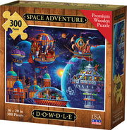 Space Adventure - Wooden Puzzle