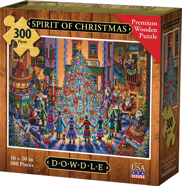 Spirit of Christmas Wooden Puzzle