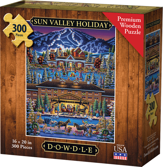 Sun Valley Holiday - Dowdle Wooden Puzzle