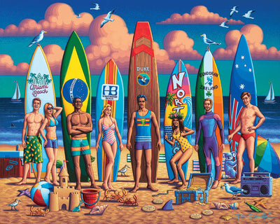 Surfing Around the World - Fine Art
