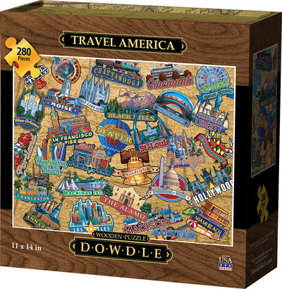 Travel America - Wooden Puzzle