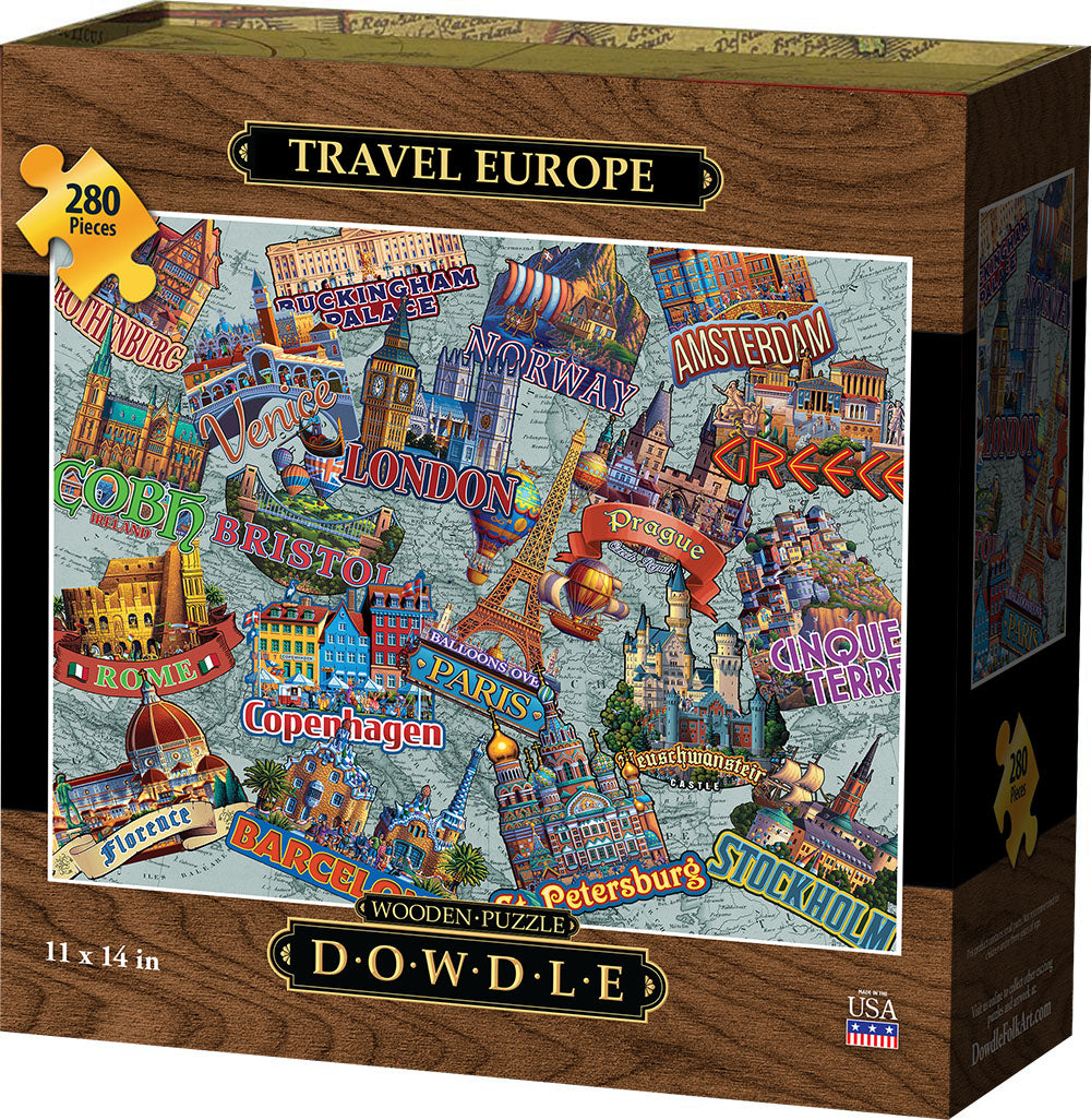Travel Europe - Wooden Puzzle