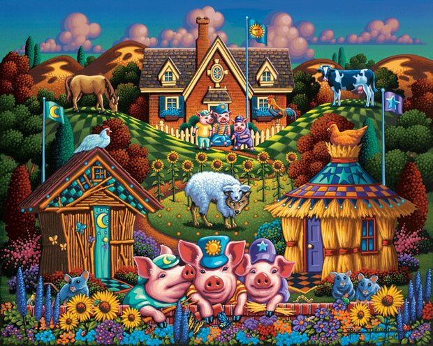Three Little Pigs - Dowdle Wooden Puzzle