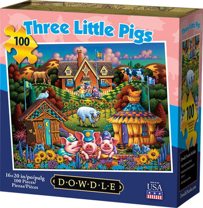 Three Little Pigs - 100 Piece